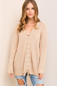 The Josie Sweater- Taupe
