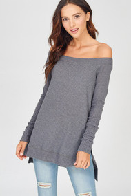 The Kennedy Top- Charcoal