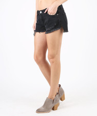 The STS Denim Step Hem Boyfriend Shorts- Black