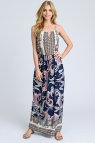 The Nicole Maxi Dress- Blue