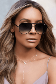 The Quay Australia Mini High Key Sunglasses- Blk Smoke Fade