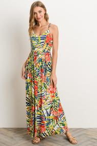 The Clara Dress- Tropical Print
