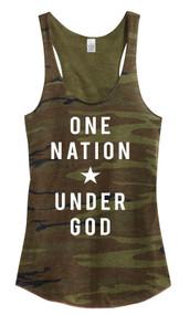 One Nation Under God Tank- Camo