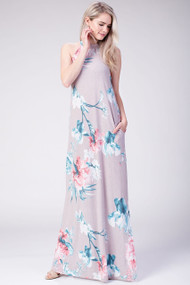 The Ellie Floral Maxi- Taro