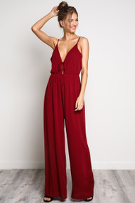 The Millie Jumpsuit- Wine