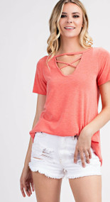 The Tate Top- Coral