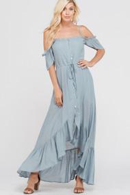 The Casey Dress - Dove Grey