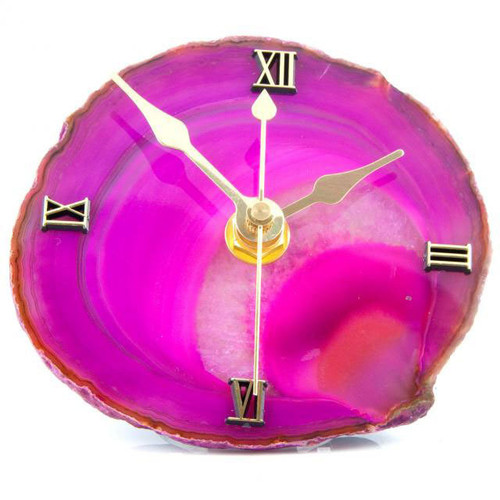Agate Slice with Clock Face Hole