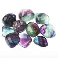 Fluorite Tumbled Gemstones 1LB