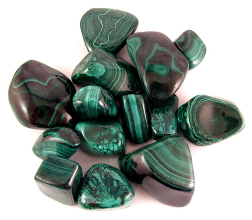 Malachite Tumbled Gemstones 1/2LB