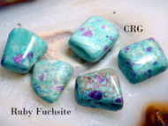 "POLISHED RUBY FUCHSITE Select Gemstone 1""-1.25"" Avg"