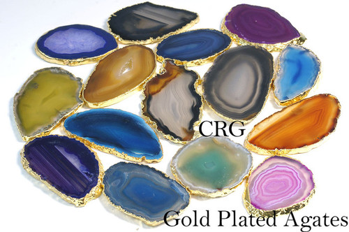 Gold Plated Agate Slice