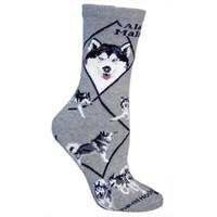 Wheel House Alaskan Malamute Socks