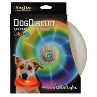 Nite Ize Flashflight Dog Discuit - LED Light-Up Flying Disc