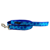 Walk-E-Woo Blue Dots on Turquoise Lead