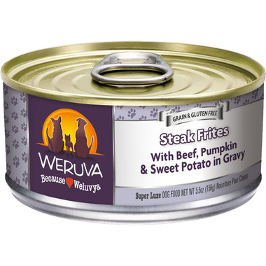 Weruva 5.5oz Steak Frites