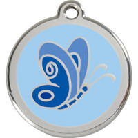 Red Dingo Enamel Butterfly Blue