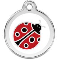 Red Dingo Enamel Ladybug White