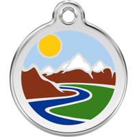 Red Dingo Enamel Mountains