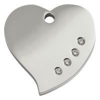 Red Dingo Diamante Tag Heart