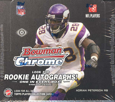 2008 Bowman Chrome Football Hobby Box