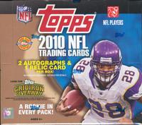 2010 Topps Football Jumbo HTA Hobby Box