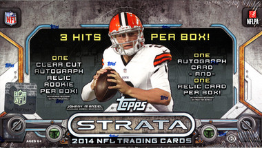 2014 Topps Strata Football Hobby Box