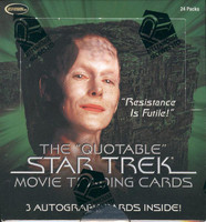 Star Trek The Quotable Star Trek Movie Trading Cards Box
