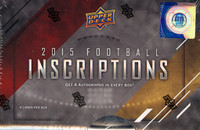2015 Upper Deck Inscriptions Football Hobby Box