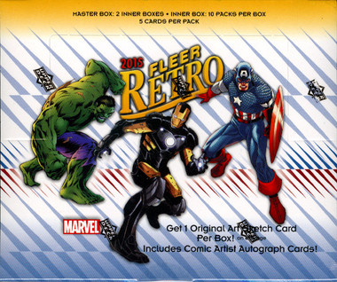 2015 Fleer Retro Marvel Trading Cards Box