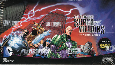 2015 Cryptozoic DC Super-Villains Trading Cards Hobby Box