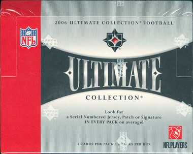 2006 Upper Deck Ultimate Collection Football Hobby 4 Box Case