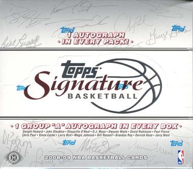 2008/09 Topps Signature Basketball Hobby Box