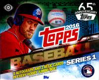 2016 Topps Series 1 Baseball Jumbo HTA Hobby Box