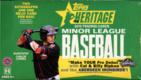 2013 Topps Heritage Minor League Ed Baseball Hobby Box