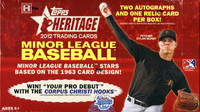 2012 Topps Heritage Minor League Ed Baseball Hobby Box