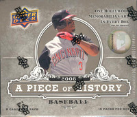 2008 Upper Deck A Piece of History Baseball Hobby Box
