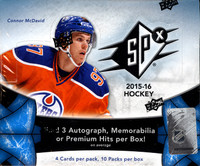 2015/16 Upper Deck SPx Hockey Hobby Box