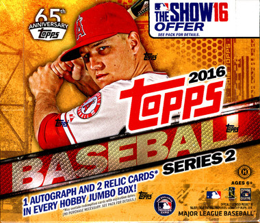 2016 Topps Series 2 Baseball Jumbo HTA Hobby Box
