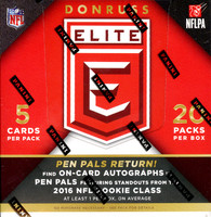 2016 Panini Donruss Elite Football Hobby Box