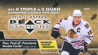 2010/11 Upper Deck Black Diamond Hockey Hobby Box