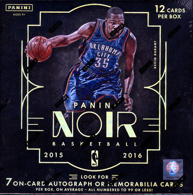 2015/16 Panini Noir Basketball Hobby Box