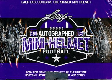 2016 Leaf Autographed Mini Helmet Football Box