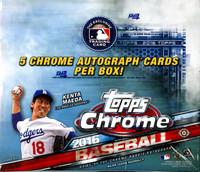 2016 Topps Chrome Baseball Jumbo HTA Hobby Box