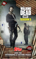 2016 Topps The Walking Dead Season 5 Trading Cards Box