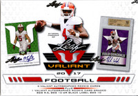 2017 Leaf Valiant Football Hobby Box