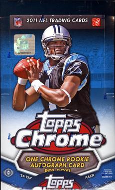 2011 Topps Chrome Football Hobby Box