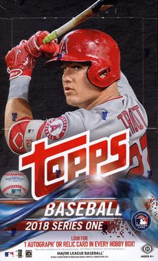 2018 Topps Series 1 Baseball Hobby Box + 1 Silver Pack