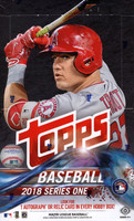 2018 Topps Series 1 Baseball Hobby Box + 1 Silver Pack