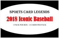 2018 Sports Card Legends Iconic Baseball Hobby Box